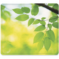 Recycled Mouse Pad - Leaves - 0.1 inch x 9 inch x 8 inch Dimension - Multicolor - Rubber - Scratch Resistant