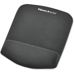 PlushTouch Mouse Pad/Wrist Rest with FoamFusion Technology - Graphite - 9.4 inch x 7.3 inch x 1 inch Dimension - Graphite - Polyurethane Foam - Wear Resistant Tear Resistant
