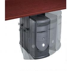 THE FELLOWES PROFESSIONAL SERIES UNDER DESK CPU SUPPORT OFFERS SPACE-SAVING STOR