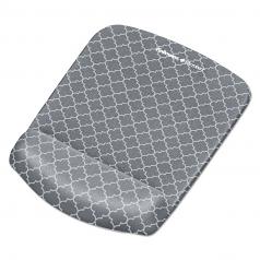 Plushtouch Mouse Pad With Wrist Rest 7 1/4 X 9 3/8 X 1 Gray/white Lattice