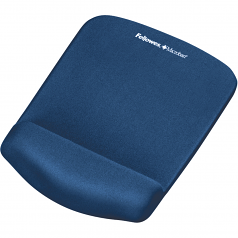 PlushTouch Mouse Pad/Wrist Rest with FoamFusion Technology - Blue - 9.4 inch x 7.3 inch x 1 inch - Blue