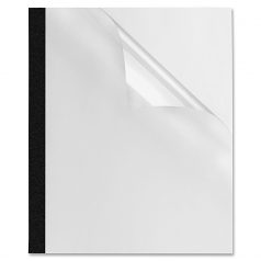 Thermal Presentation Covers - 1/8 inch  30 sheets Black - 30 Sheet Capacity - Rectangular - Polyvinyl Chloride (PVC) - 10 / Pack - Black Clear