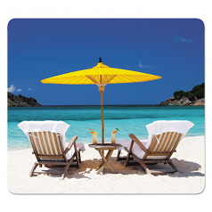 Recycled Mouse Pads Caribbean Beach Design 9 X 1/16