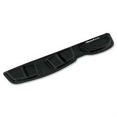 Keyboard Palm Support with Microban Protection - 3.4 inch x 18.3 inch x 0.6 inch Dimension - Black - Memory Foam Jersey