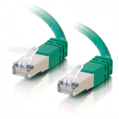 100ft Cat5e Snagless Shielded (STP) Ethernet Network Patch Cable - Green - Patch cable - RJ-45 (M) to RJ-45 (M) - 100 ft - STP - CAT 5e - molded stranded - green
