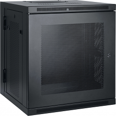 10U Wall Mount Rack Enclosure Server Cabinet Hinged with Door & Sides - Rack - cabinet - wall mountable - black - 10U - 19 inch