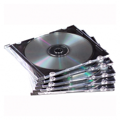 NEATO Slim Optical Disc Case - Jewel CasePlastic Polystyrene - Clear Black - 1 CD/DVD
