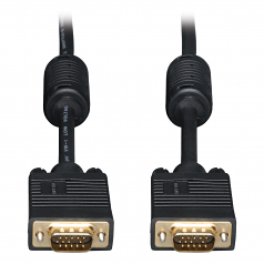 6ft VGA Coax Monitor Cable with RGB High Resolution HD15 M/M 6 - VGA cable - HD-15 (VGA) (M) to HD-15 (VGA) (M) - 6 ft - molded - for Tripp Lite P138-000-VGA USB 3.0 VGA with Audio over Cat5