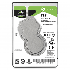 Guardian BarraCuda - Hard drive - 1 TB - internal - 2.5 inch - SATA 6Gb/s - 5400 rpm - buffer: 128 MB