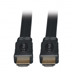10ft High Speed HDMI Cable Digital Video with Audio Flat Shielded 4K x 2K M/M 10 - HDMI cable - HDMI (M) to HDMI (M) - 10 ft - triple shielded - black - flat - for P/N: B119-003 B119-302-R B119-303-R
