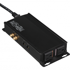 Home Theater Isobar Flat Panel Surge with Coax & Network 2 outlets 5100 Joules - Line conditioner - 120 V - 12 VA - output connectors: 2 - black
