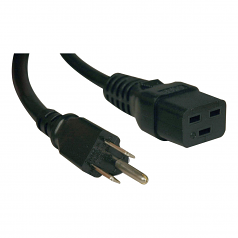 10ft Power Cord Cable 5-15P to C19 Heavy Duty 15A 14AWG 10 - Power cable - NEMA 5-15 (M) to IEC 60320 C19 - AC 110 V - 10 ft - molded - black - for Single-Phase Metered PDU PDUMV15 SmartPro 1000 1500 SMART1500 Switched PDU PDUMH15