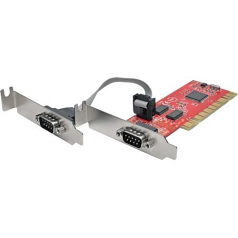 2-Port DB9 RS232 PCI Serial Adapter Card Low Profile - Serial adapter - PCI-X low profile - RS-232 x 2 - red