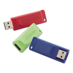 Store n Go - USB flash drive - 16 GB - USB 2.0 - blue red green (pack of 3)