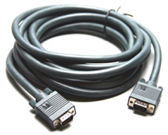 C-GM/GM Series - VGA cable - HD-15 (M) - HD-15 (M) - 3 ft - molded thumbscrews - dark gray
