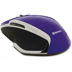 Deluxe - Mouse - 6 buttons - wireless - 2.4 GHz - USB wireless receiver - purple