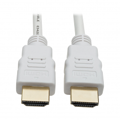 High-Speed HDMI 4K Cable with Digital Video and Audio Ultra HD 4K x 2K @ 30 Hz (M/M)  White 16 ft. - HDMI cable - HDMI (M) to HDMI (M) - 16 ft - double shielded - white - molded