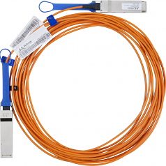 Fiber Optic Network Cable - Fiber Optic for Network Device - 33 ft - 1 x QSFP Male Network - 1 x QSFP Male Network