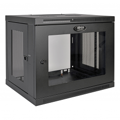 9U Wall Mount Rack Enclosure Server Cabinet with Acrylic Glass Front Door - Wall mount cabinet - black - 9U - 19 inch