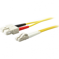 3m SMF 9/125 Duplex SC/LC OS1 Yellow LSZH Patch Cable - Fiber Optic for Network Device - 3m - 2 x LC Male Network - 2 x SC Male Network - Yellow
