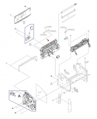 Paper pickup assembly - Complete assembly that paper pickup roller mounts in