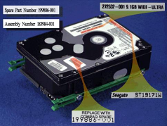9.1GB Ultra SCSI-2 hard drive - 7200 RPM 3.5-inch form factor 1.6-inch high with drive retainer rails
