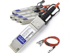 0.5m Industry Standard QSFP+ Breakout AOC - 40GBase direct attach cable - SFP+ (M) to QSFP+ (M) - 1.6 ft - fiber optic - active