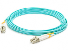 Fiber Optic Duplex Patch Network Cable - Fiber Optic for Network Device Patch Panel Hub Switch Media Converter Router - 131.23 ft - 2 x LC Male Network - 2 x LC Male Network - Aqua