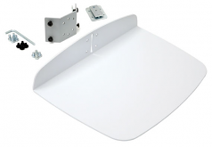 Utility Shelf - Mounting component ( fasteners cart shelf ) for printer - white - for Neo-Flex ESD WorkSpace; TeachWell LCD Mobile Digital Platform Mobile Digital Platform