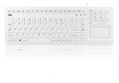 SLIMTOUCH ANTIMICROBIAL WATERPROOF USB COMPACT SIZE TOUCHPAD KEYBOARD G