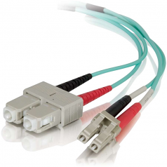 0.5m LC-SC 50/125 Duplex Multimode OM4 Fiber Cable - Aqua - 1.64ft - Network cable - SC multi-mode (M) to LC multi-mode (M) - 0.5 m - fiber optic - 50 / 125 micron - OM4 - aqua