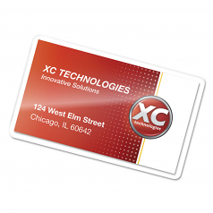 Business Card - 100-pack - clear - clear - 2.25 in x 3.75 in glossy laminating pouches