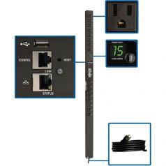 1.4kW Single-Phase Monitored PDU with LX Platform Interface 120V Outlets (16 5-15R)  10 ft. Cord w/5-15P Plug 0U TAA - Power distribution unit (rack-mountable) - 15 A - AC 100/120/127 V - 1.4 kW - 1-phase - Ethernet 10/100 USB - input: NEMA 5-15P - o