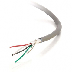 1000FT 24 AWG 10-CONDUCTOR FOIL SHIELD PVC STRANDED BULK CABLE