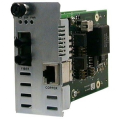 Point System Slide-In-Module POTS 2-Wire Copper to Fiber - Media converter - RJ-11 / SC multi-mode - up to 3.1 miles - 1300 nm