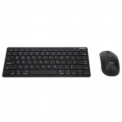 Keyboard and mouse set - wireless - Bluetooth 3.0 - black