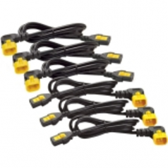 Power cable - IEC 60320 C13 to IEC 60320 C14 - 10 A - 6 ft - 90 connector - black - Worldwide - for P/N: SMC1000I-2UC SMT2200RMI2UC SRT1500XLI SRT2200XLI-KR SRT5KRMXLIM SRT6KRMXLIM