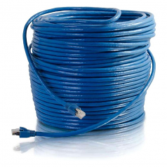 250ft Cat6 Snagless Solid Shielded Ethernet Network Patch Cable - Blue - Patch cable - RJ-45 (M) to RJ-45 (M) - 250 ft - screened shielded twisted pair (SSTP) - CAT 6 - snagless - blue