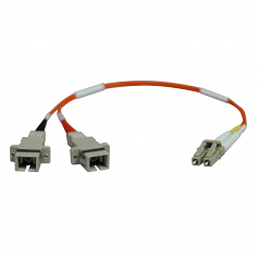 0.3M Duplex Multimode Fiber Optic 62.5/125 Adapter LC/SC M/F 1ft 1 feet 0.3 Meter - Network cable - LC multi-mode (M) to SC multi-mode (F) - 1 ft - fiber optic - 62.5 / 125 micron - orange