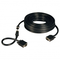 100ft VGA Coax Monitor Cable Easy Pull with RGB High Resolution HD15 M/M 100 - VGA cable kit - HD-15 (VGA) (M) to HD-15 (VGA) (M) - 100 ft - molded