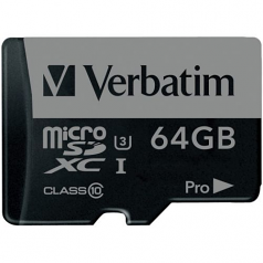 PRO - Flash memory card (SD adapter included) - 64 GB - UHS Class 3 / Class10 - 300x/600x - microSDXC UHS-I