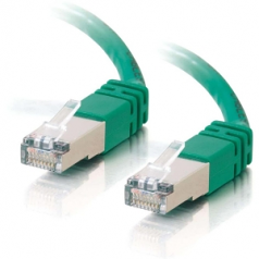 150FT CAT5E GREEN MOLDED SHIELDED PATCH CABLE