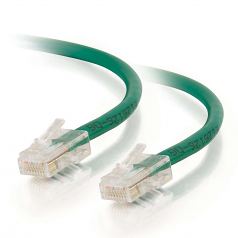 9ft Cat5e Non-Booted Unshielded (UTP) Network Patch Cable - Green - Category 5e for Network Device - RJ-45 Male - RJ-45 Male - 9ft - Green