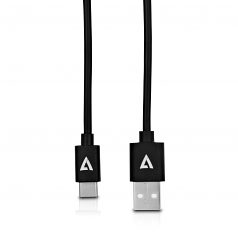 6.6FT BLK USB2 A TO USB-C CABLE 100% COPPER CONDUCTOR