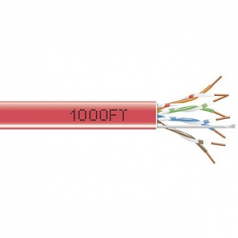 1000-FT. CAT5E SOLID CABLE 350MHZ UTP CMR CM RED