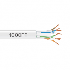 1000FT CAT6A 650MHZ SOLID CABLE UTP CM WHITE