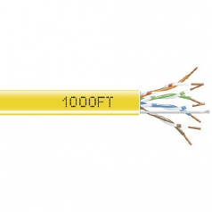 1000-FT YELLOW CAT5E SOLID CABLE 350MHZ UTP CMR CM