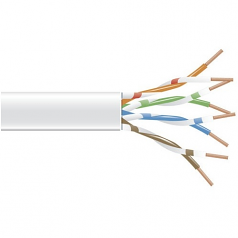 1000FT SPOOL WHITE CAT6 550MHZ STRANDED CABLE UNSHIELDED PVC
