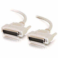 10ft IEEE-1284 DB25 M/M Parallel Cable - DB-25 Male - DB-25 Male - 10ft - Beige
