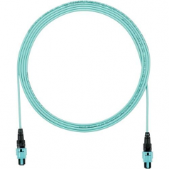 QuickNet PanMPO Round Interconnect Cable Assemblies - Network cable - PanMPO multi-mode (F) to PanMPO multi-mode (F) - 2.13 m - fiber optic - 50 / 125 micron - OM3 - indoor plenum round - aqua